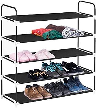 MaidMAX 5 Tiers Shoe Rack (Black)