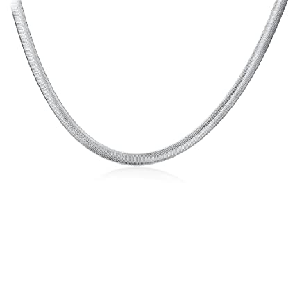 906ef8ce3b3e5 SUNKOOL Men 925 Sterling Silver Plated Chain Necklace 22 inch Snake Bone  Style