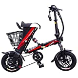 MEIYATU E-Bike – Folding Electric Bicycle with 15-18 Miles Range, E-Bike Scooter 250W Powerful Motor Collapsible Frame 36V