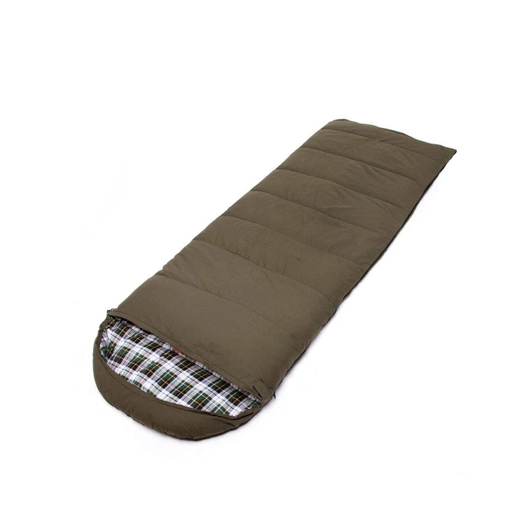 Schlafsäcke LCSHAN Polyester Outdoor Indoor Warm Camping Reise Erwachsene Vier Jahreszeiten Dicke Daunen Baumwolle (Farbe   Grün)