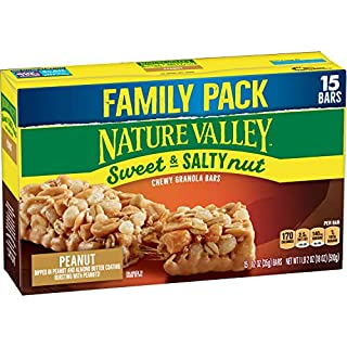 Nature Valley Granola Bars, Sweet & Salty Nut, Peanut Granola Bars, 15 Count