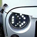 ICARS 7 inch Arrow Style LED Headlights for Jeep Wrangler TJ JK 1997-2017 Rubicon, Sahara, Sport Models 2 or 4 Door Models Unlimited Accessories