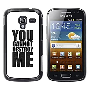 "Pulsar Snap-on Series Teléfono Carcasa Funda Case Caso para Samsung Galaxy Ace 2 , Potente blanca minimalista texto"""
