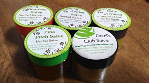Native Healing Salves Gift Pack - Pine Pitch, Balm of Gilead and Devil's Club