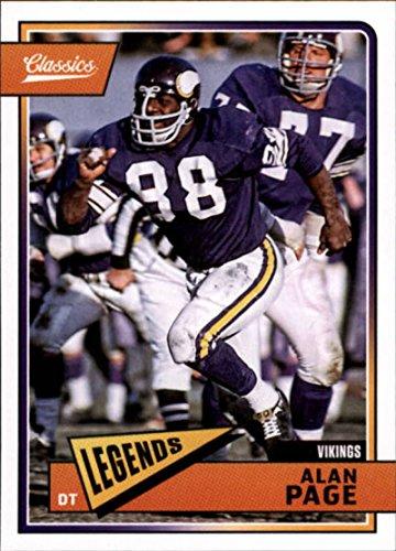 Minnesota Vikings Nfl Card - 2018 Classics Football #113 Alan Page Minnesota Vikings Legend Panini NFL Card