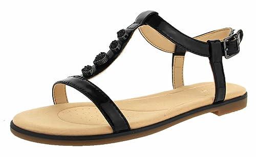 be5f682d46e5d6 Clarks Bay Blossom Womens Patent Sandals 6.5 Black Patent  Amazon.co.uk   Shoes   Bags