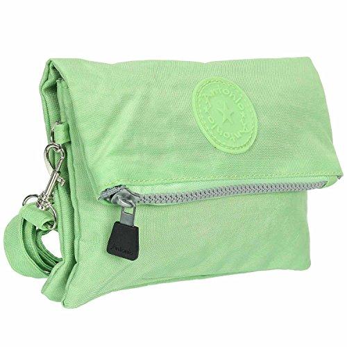 Antonio Damen Umhängetasche Crinkle Nylon grün