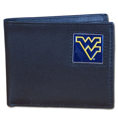 - Siskiyou West Virginia Mountaineers Bi-fold Leather Wallet