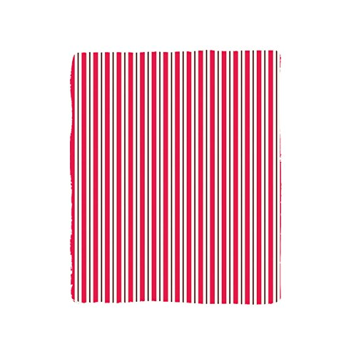 VROSELV Custom Blanket Pink Circus or French Cafe Tent Inspired Print in Bold Stripes Art Print Bedroom Living Room Dorm Hot Pink and (Cafe Cardigan)
