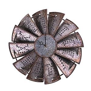 Tin windmill clockface