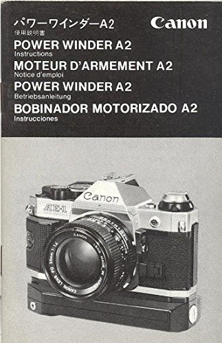 Canon Power Winder A2 Original Instruction Manual - ()