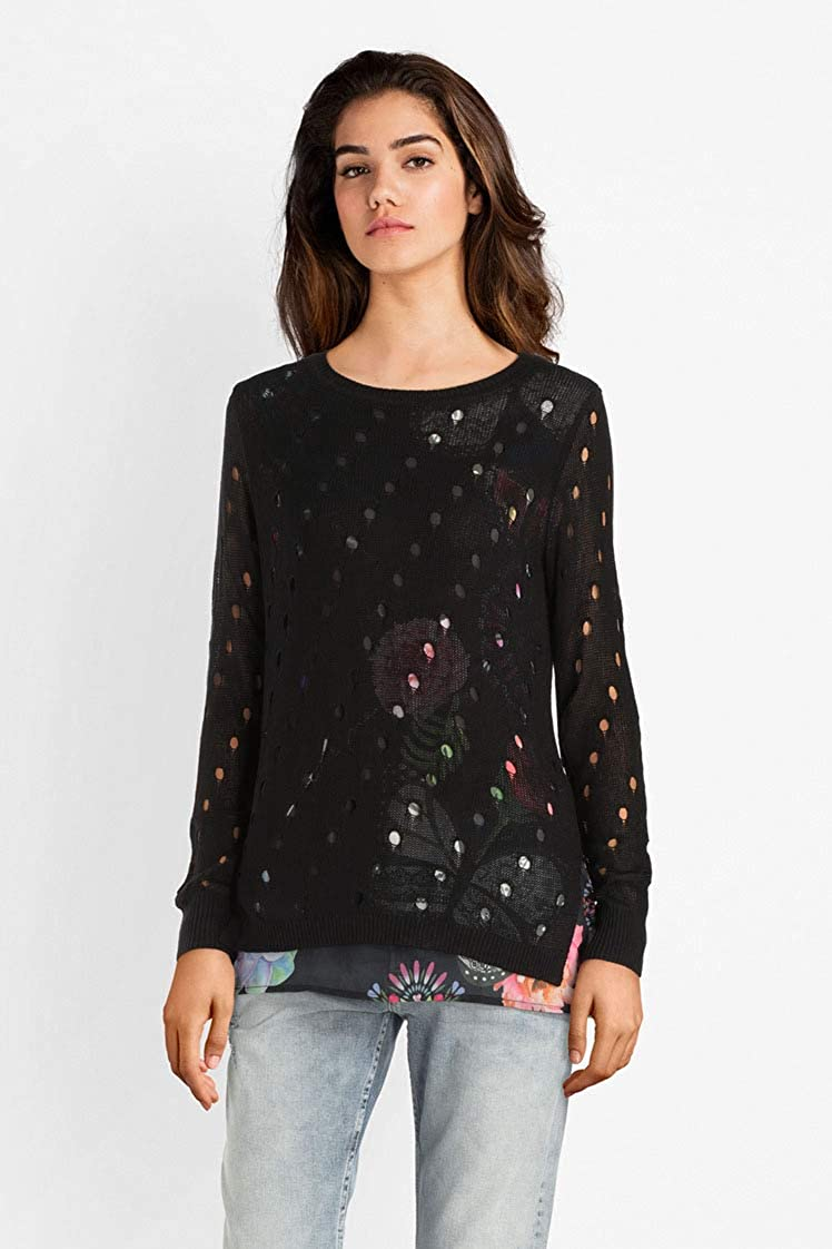 Desigual Womens JERS/_Carol Pullover Sweater