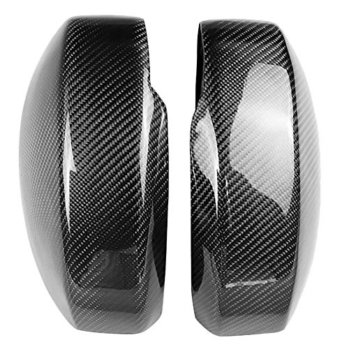 (TOOGOO 1Pair Real Carbon Fiber Door Rear View Rearview Mirror Cover Trim Car Accessories Fit for 350Z Fairlady Z Z33 2003-2008)