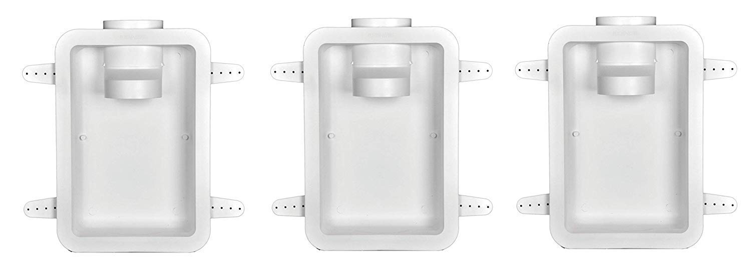 Dundas Jafine DRB4XZW Recessed Dryer Vent Box, 4'', White (Pack of 3) by Dundas Jafine