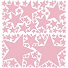 119 Peel & Stick Removable Wall Decals Stars, Baby Pink