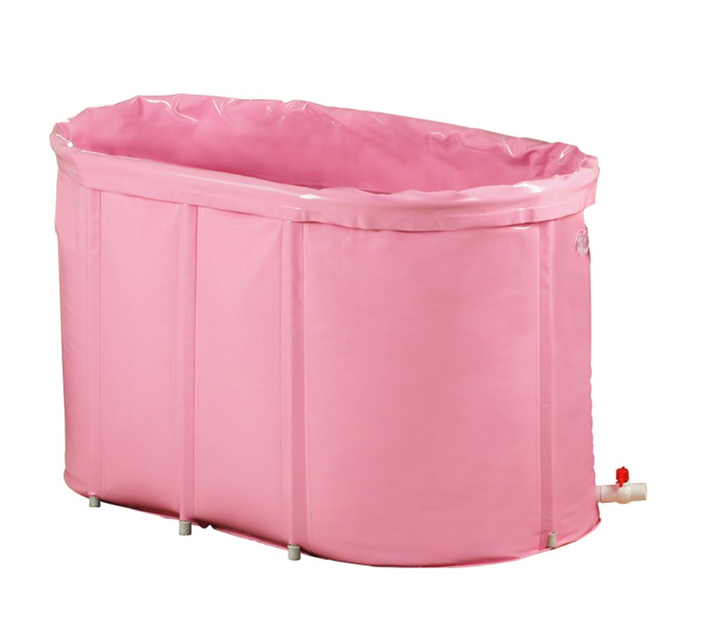 Home mall- Double Insulation Sponge Bottom Folding Bath Free Inflatable Tub Bathtub Adult Bathing Bucket