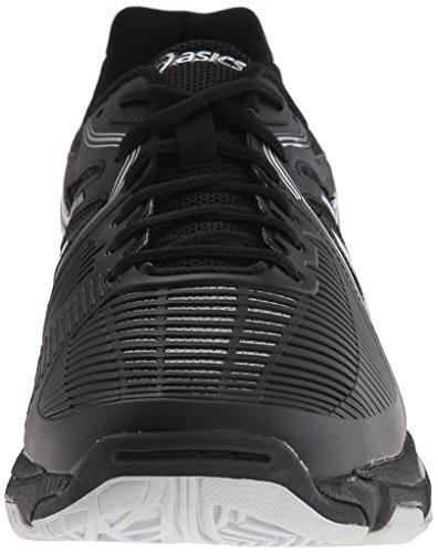 Zapato De Voleibol Balístico Gel-netburner Para Hombre De Asics Negro / Plateado