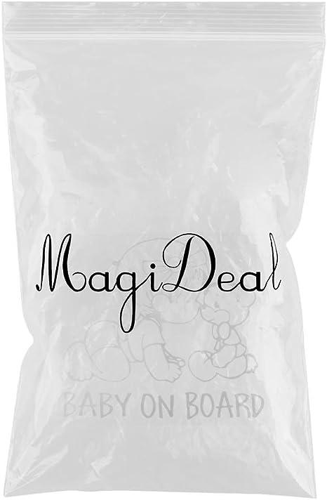 "MagiDeal Car Black /""BABY ON BOARD/"" with Teddy Bear Sign Vinyl Decal Sticker"