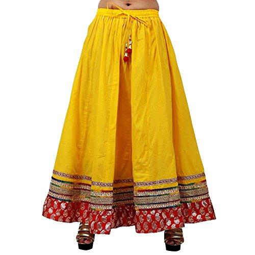 Yellow Solid Skirt Stylish Cotton Stylish Cotton Yellow txga4