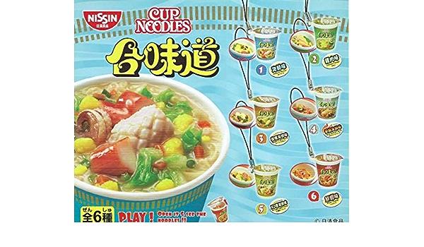 Bandai Capsule Nissin Cup Noodles Mini Figurine Mascot Vol 1 Full Set 6 pieces