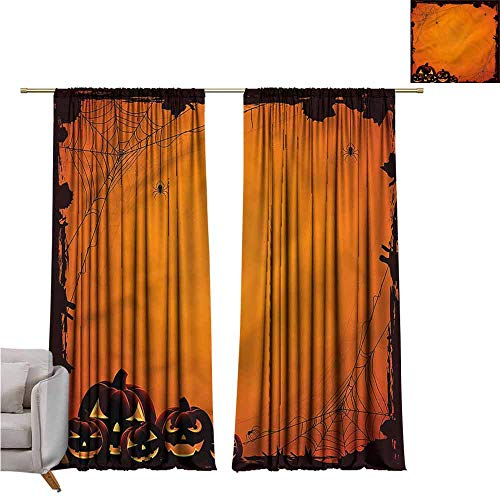 zojihouse Halloween Awning Room Darkening Curtain 55