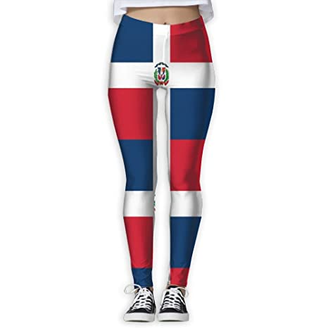 Amazon.com: Womens Girl Dominican Republic Flag High Waist ...