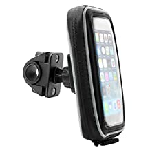 ARKON SMWPCS532 Smartphone or GPS Bike Motorcycle Handlebar Mount with Water Resistant Holder for iPhone 5s/5c Samsung Galaxy S5,S4 (Black)
