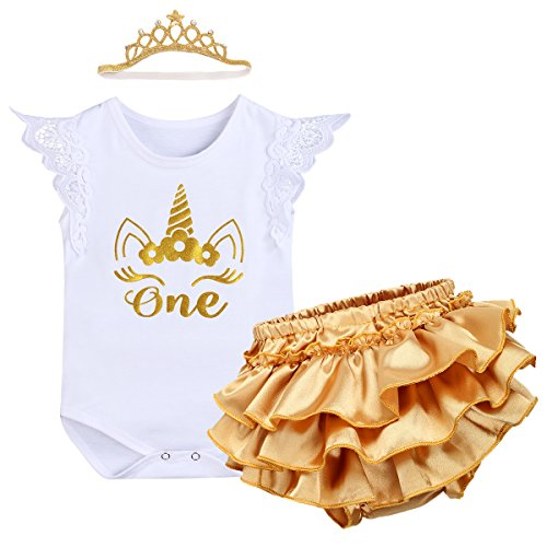 tutu and Crown not inc First Birthday Outfit frilly Knickers Bloomers One
