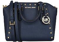 Michael Kors Medium Studded Ciara Messenger Womens Saffiano Leather Bag
