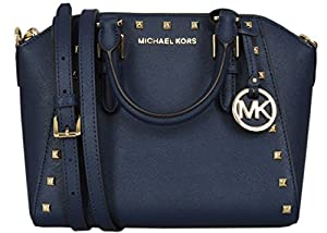 Michael Kors Medium Studded Ciara Messenger Womens Saffiano Leather Bag