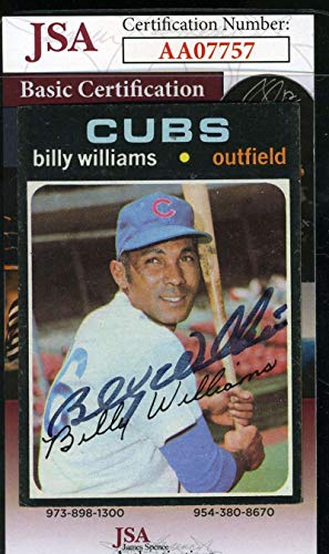 BILLY WILLIAMS 1971 Topps JSA Coa Hand Signed Authentic Autograph ()
