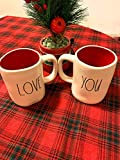 Rae Dunn Valentines Day LOVE YOU Double-sided Mug