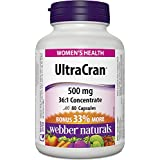 Webber Naturals UltraCran 36:1 Cranberry Concentrate Capsule, 500mg (Packaging may vary)