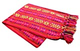Del Mex Mexican Rebozo Shawl Blanket Doula (Regular (6 ft x 2.5 ft), Red)