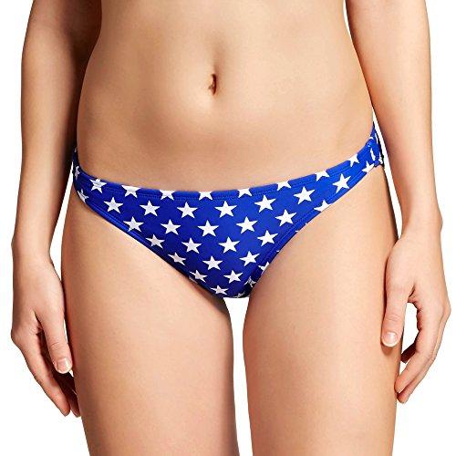 Xhilaration Swim Bottom - Xhilaration Women's Americana Cheeky Bikini Bottom (X-Small, Blue Stars)