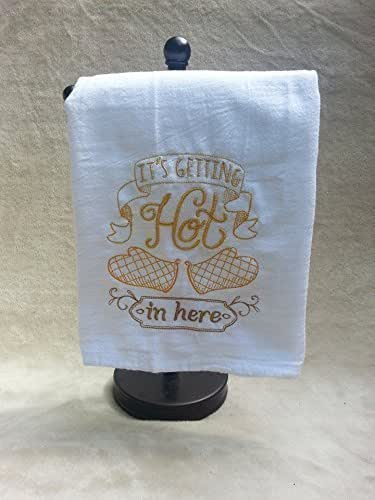 Amazon.com: It's Getting Hot In Here flour sack towel, tea