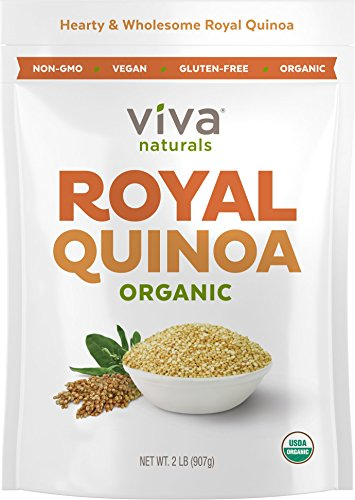 FINEST Organic Quinoa, 100% Royal Bolivian Whole Grain, 2 LB Bag (Natural Organic Twist)