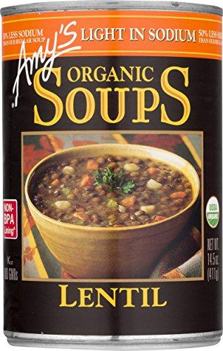 Amy#039s Soups Light in Sodium Organic Lentil Soup 145 Ounce