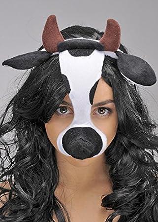 Máscara de vaca en diadema