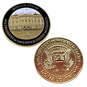 Rystinworks Donald Trump Inauguration Challenge Coin -Limited Edition- Commemorate The 45th President of The United States - A Presidential Collector Item by Rystinworks
