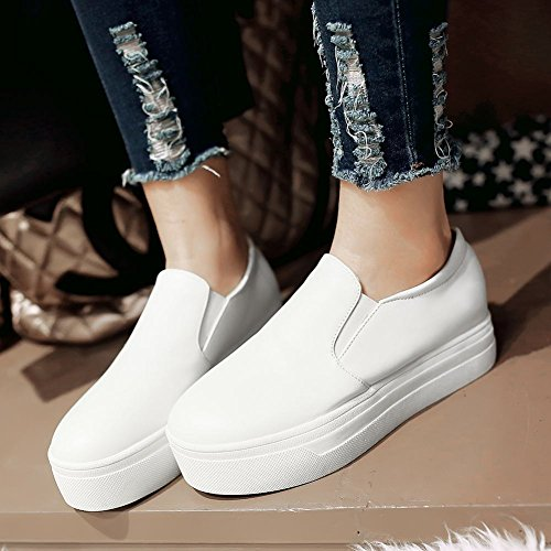 Latasa Womens Comfort Platform Slip on Shoes White AfFjqDY
