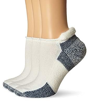 Thorlos Running Thick Padded Roll Top Socks   J,White/Navy,L (Women's: 10.5-13, Men's: 9.12.5),3 Pack