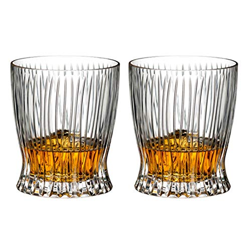 Whiskey Glass Set of 2,10 oz Crystal Whiskey Glasses,Thick Bottom Bourbon Glasses ,Old Fashioned Tasting Tumblers for…