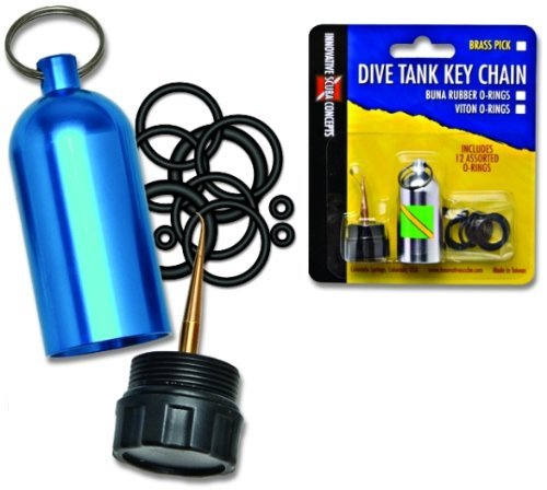 Innovative Scuba Concepts Diving Tank O-Ring Dive Kit Keychain with Pick, Blue (Tank Scuba Diving)