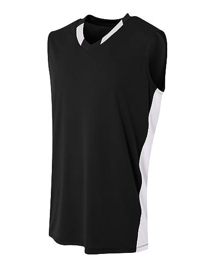 78925695ca7 Amazon.com : A4 Sportswear 2-Color (Neck/Side Panel) Basketball ...