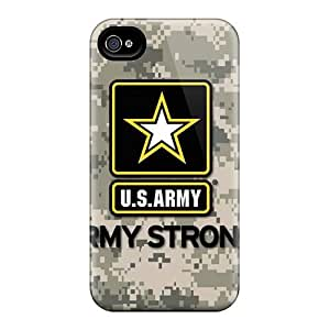 Iphone 4/4s BFn4374zcnZ Custom Lifelike Army Image Perfect Hard Cell-phone Case -LavernaCooney