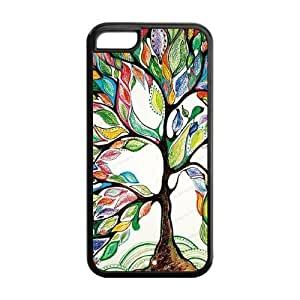 5C Phone Cases, Love Tree Hard TPU Rubber Cover Case for iPhone 5C