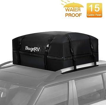 Waterproof Car Roof Top Rack Bag Carrier Cargo Luggage Storage Travel Boxes US