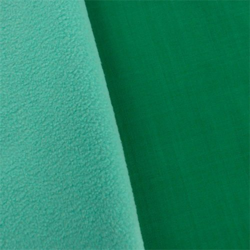 (Green/ICY Blue Twill Soft Shell Fleece, Fabric by The Yard)