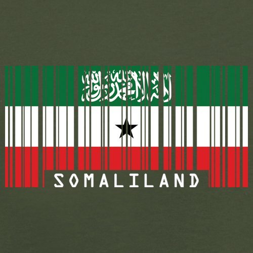 Somaliland / Republik Somaliland Barcode Flagge - Herren T-Shirt - Olivgrün - XL